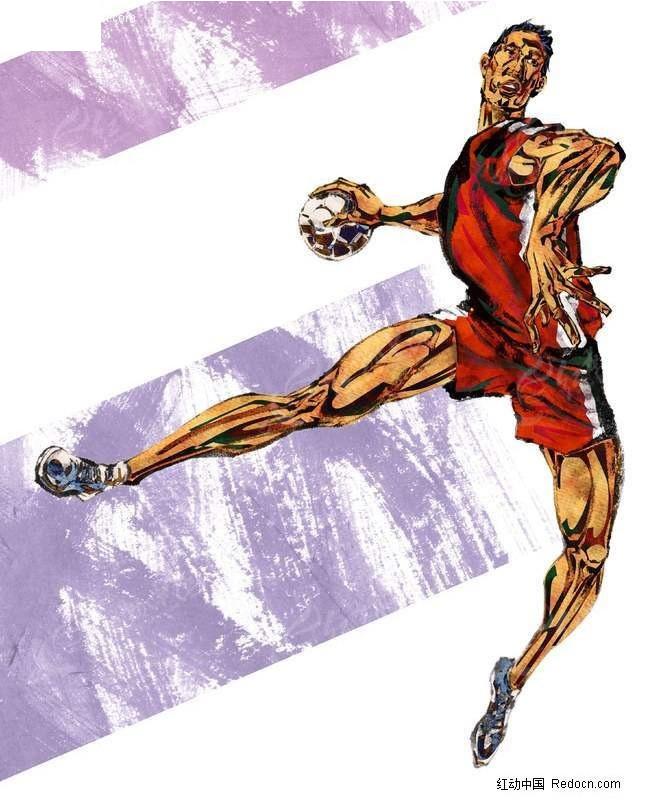 篮球 插画 ps鼠绘 手绘