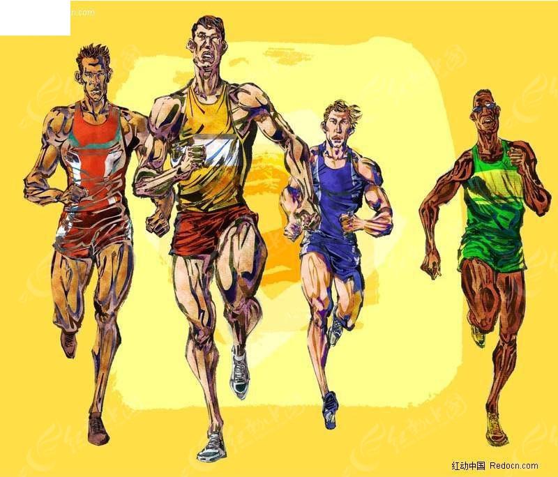 和运动有关的手绘插图