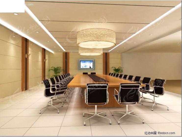 简约 现代 会议室_室内设计