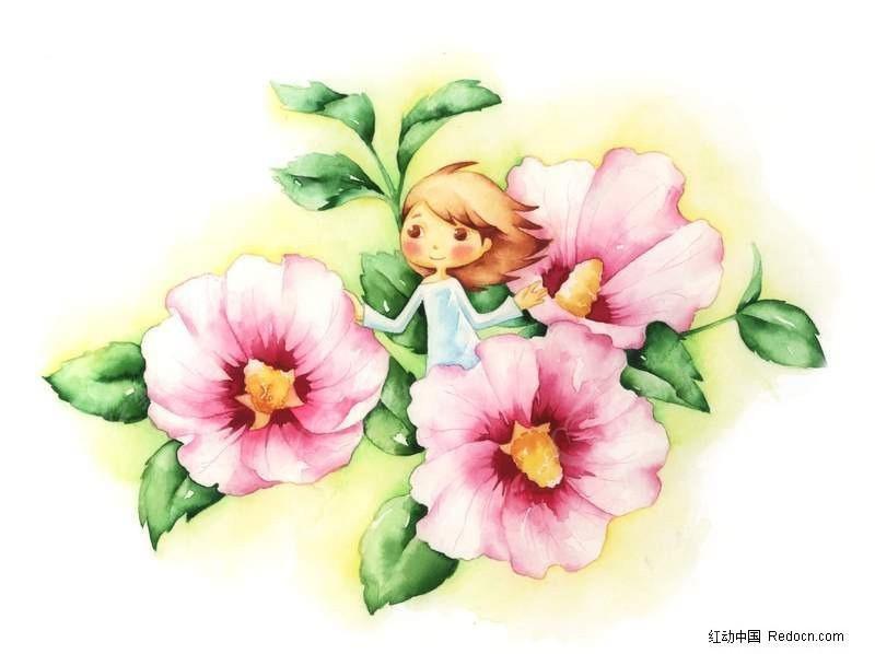花仙子卡通插画图片