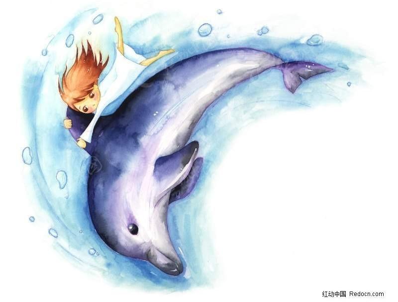 梦幻的海豚女孩漫画