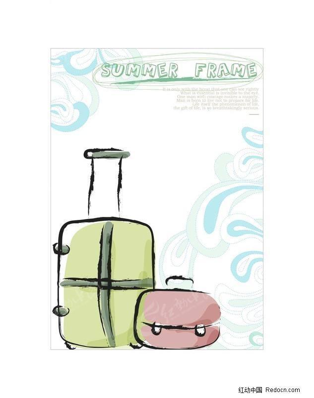 矢量可爱卡通花,卡通可爱女生,可爱的卡通人物图片; 行李箱矢量图 千