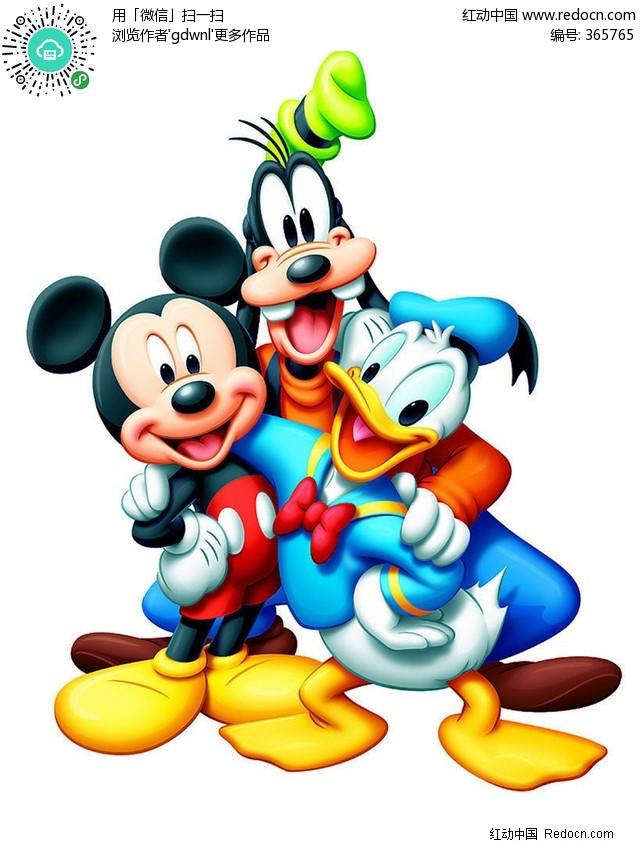 迪士斯尼卡通动画人物米奇米妮米老鼠唐老鸭狼图片