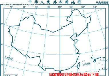 1亿示意地图版7(界线折线化南海插图)矢量图免费下载