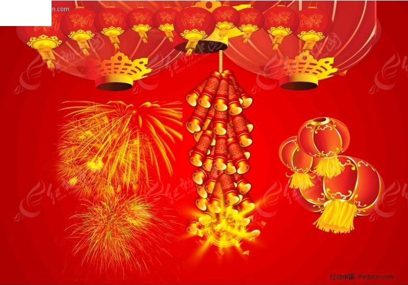春节大红灯笼图片素材打包下载