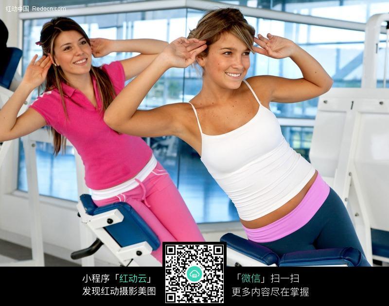 健身运动的外国美女图片 体育运动图片