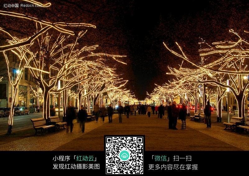 免费素材 图片素材 环境居住 园林景观 公园夜景灯