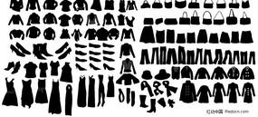 饰品与衣物矢量