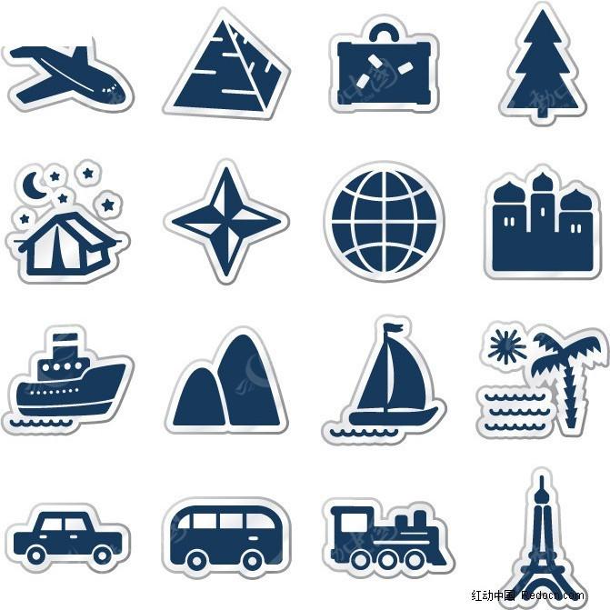 小图标 icon 汽车 轮船
