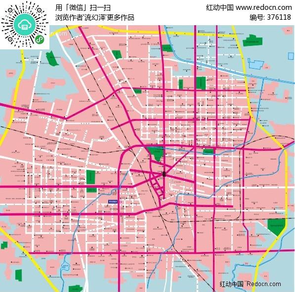郑州市交通-矢量地图