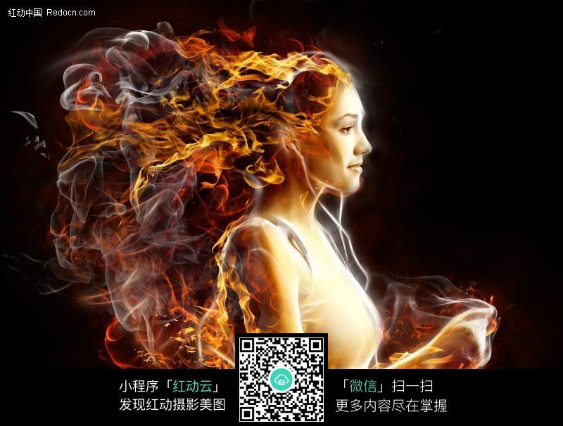 激情火焰律动女人图片