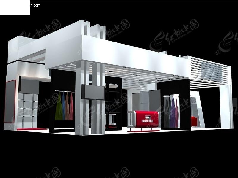 走廊式展览展台展柜展示空间图片