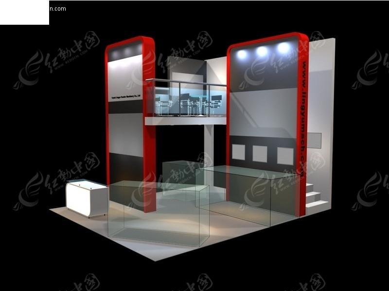 展览展台展柜展示空间走廊式