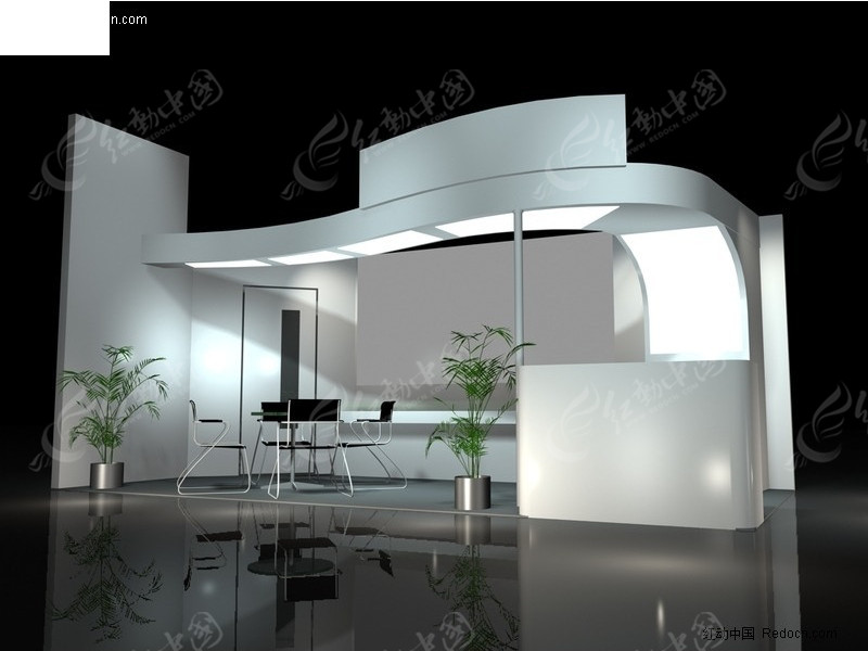单面式展览展台展柜展示空间图片
