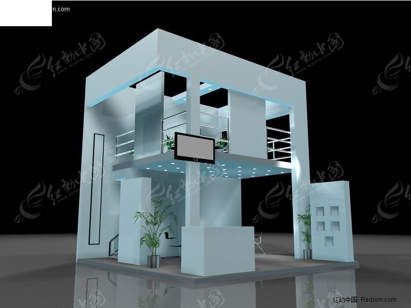 双层式展览展台展柜展示空间
