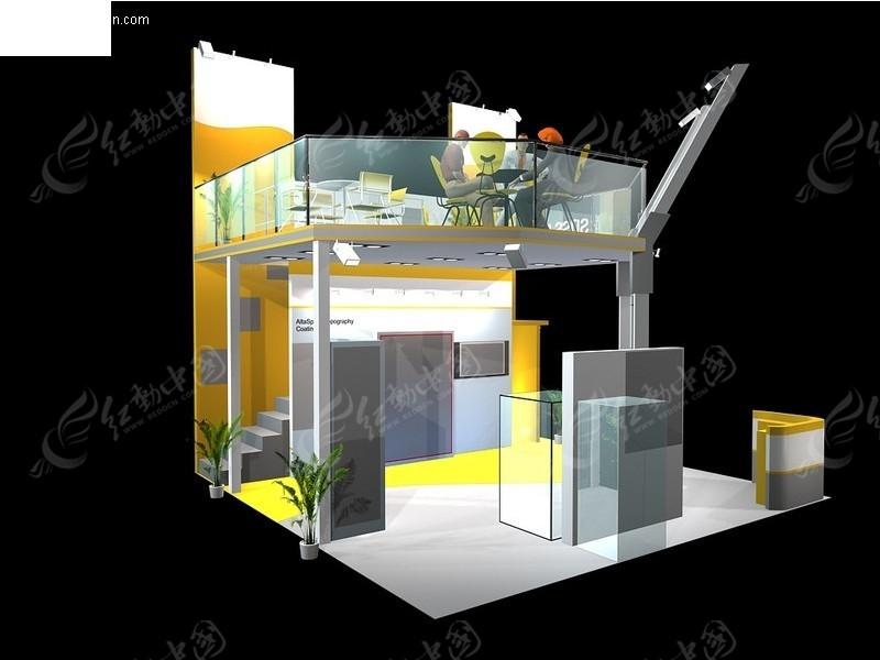 双层式展览展台展柜展示空间图片