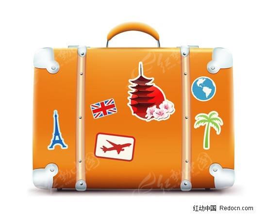 旅行箱韩国手绘素材_海报设计_红动手机版