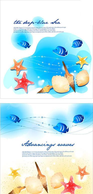 海洋生物插画_水中动物_红动手机版