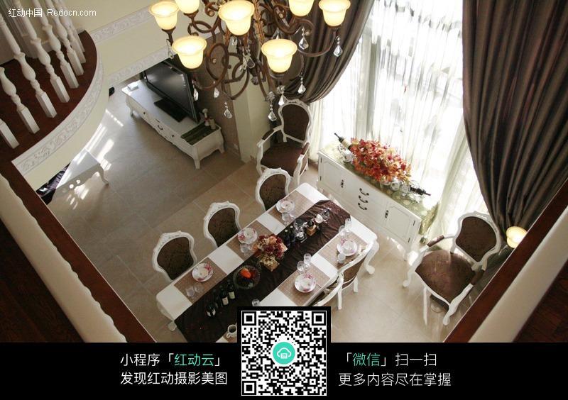 餐厅俯视图片_室内设计图片