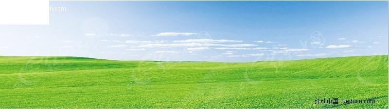 草原图片 风景区 蓝天