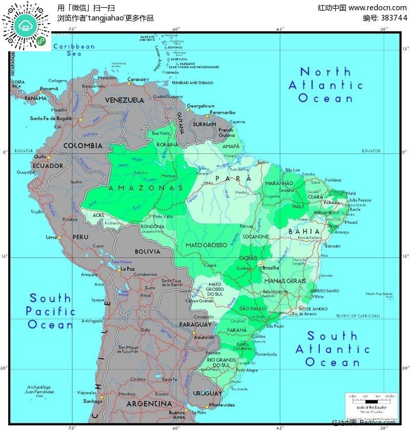 巴西地图图片