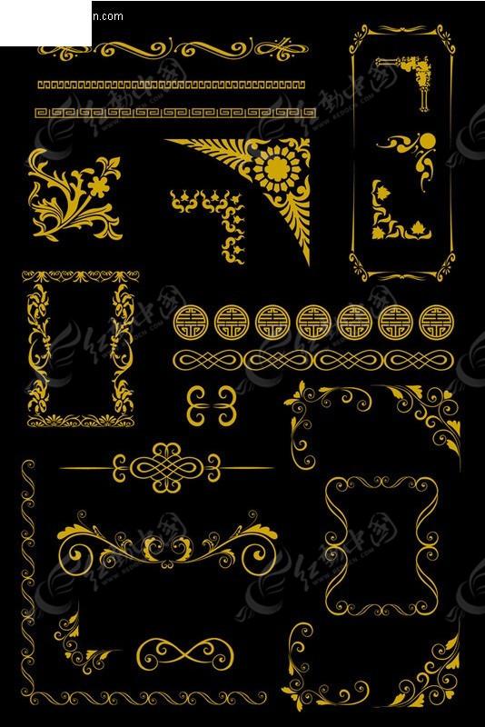 金色边框框