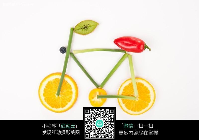 创意果蔬自行车图片免费下载 编号384029 红动网