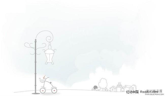 漫画街道 路灯 背景AI素材免费下载 编号384896 红动网