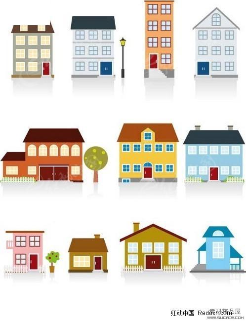 复式结构 小楼 居民房 社区