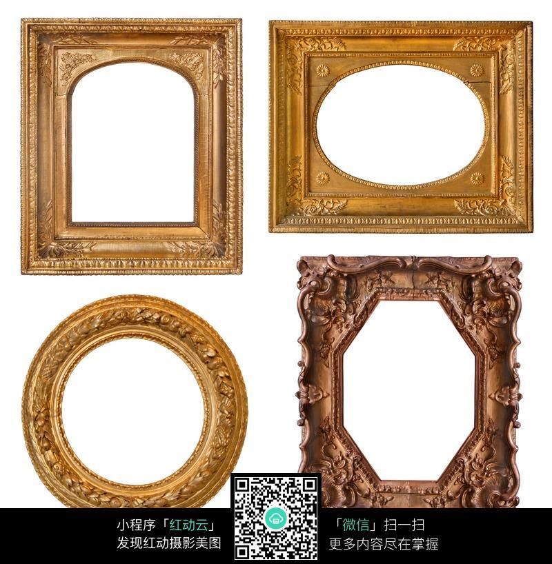 各种形状的欧式花纹画框图片图片