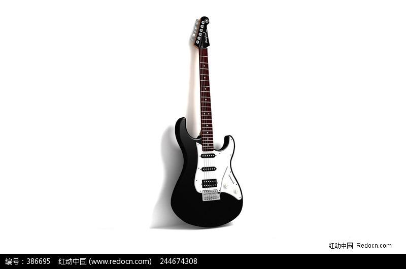 黑白色吉他图片