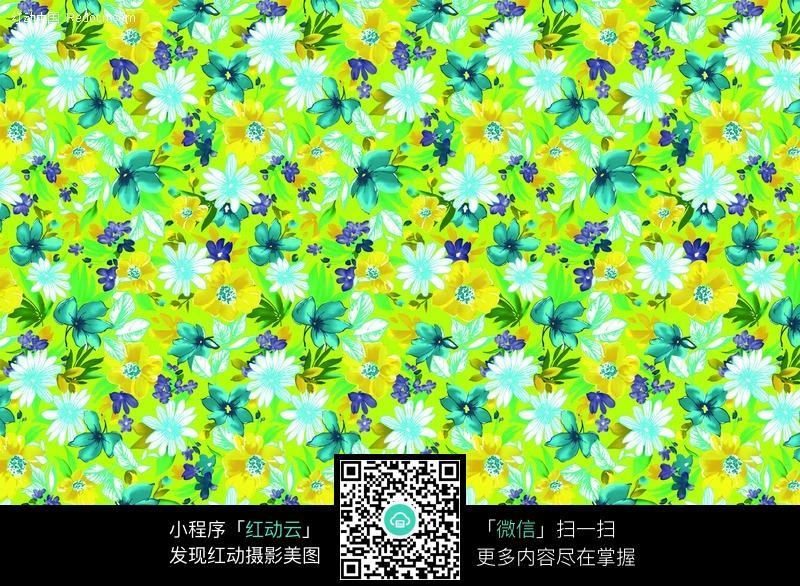 绿色花朵纹理花纹