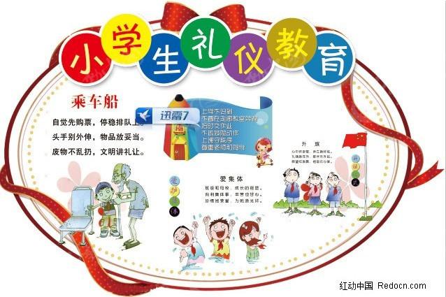 小学生礼仪教育展板设计