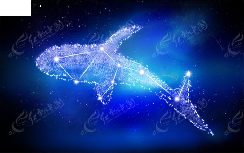 鲸鱼星系图片素材
