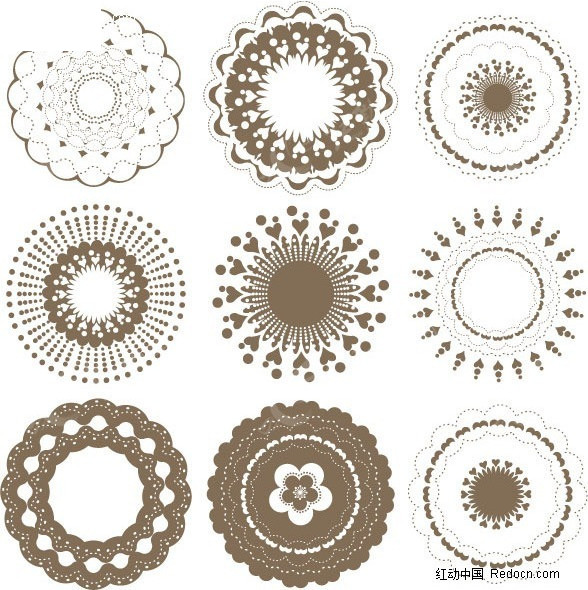 欧式 圆形 花纹图片