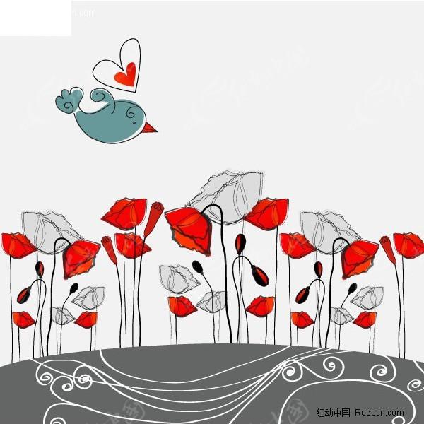 简笔画卡通花卉