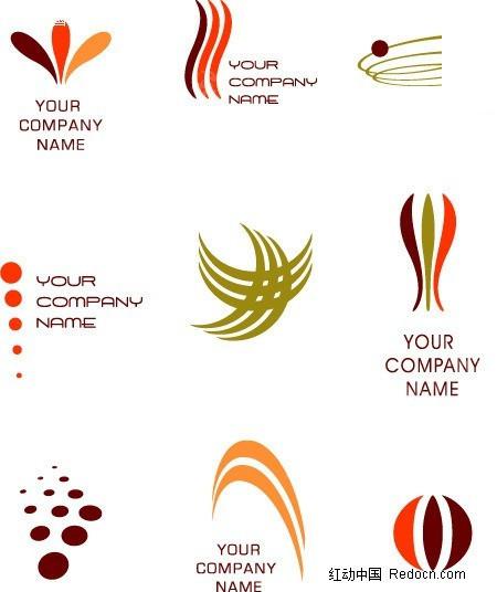 抽象 线条 花瓣 圆 logo