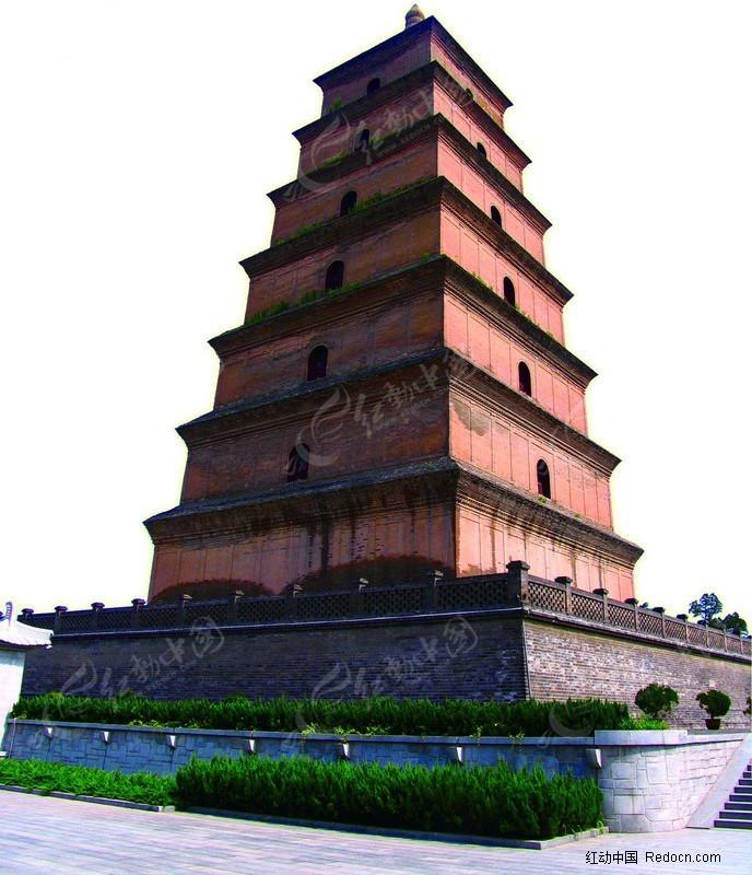 西安大雁塔素材图片