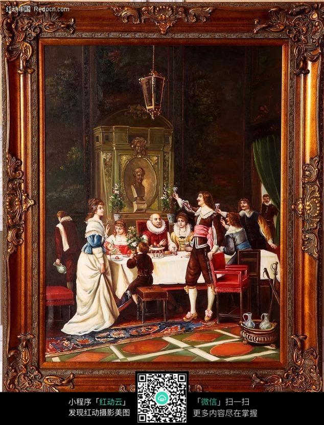 欧式宫廷人物画图片