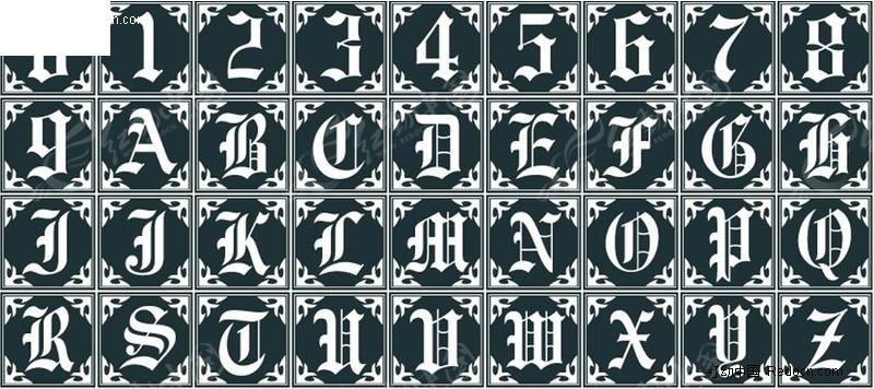关键词:英文字母字体设计艺术图片
