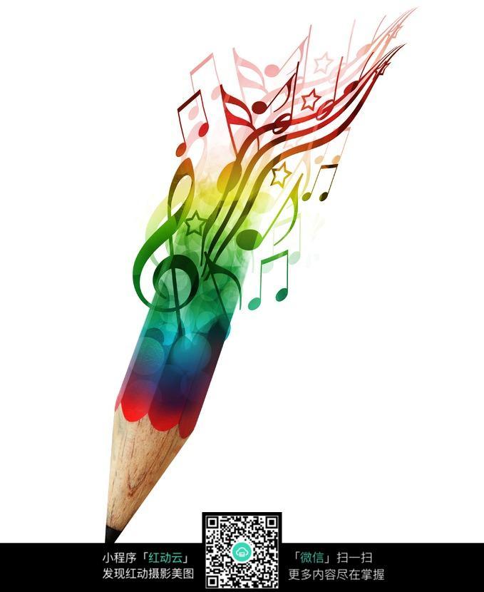 Arts Music Photography: 音乐符号组成的创意铅笔图片免费下载_红动网