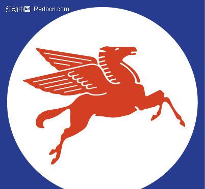 飞马图案英文字母logo设计图片
