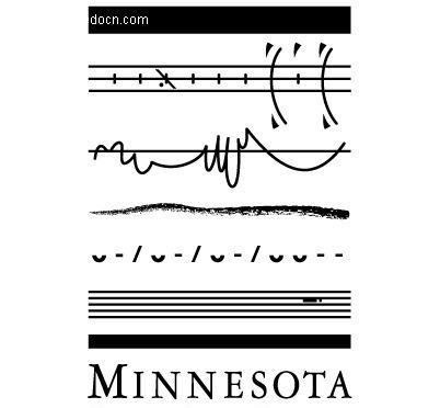 minnesota图案英文字母logo设计