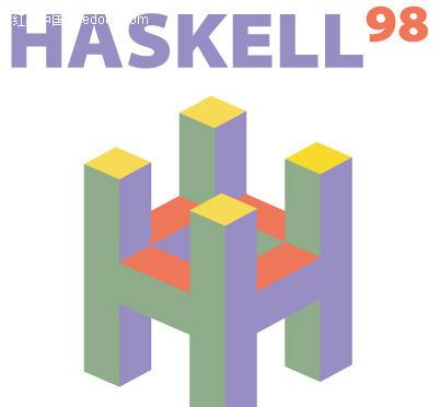 h图案英文字母logo设计