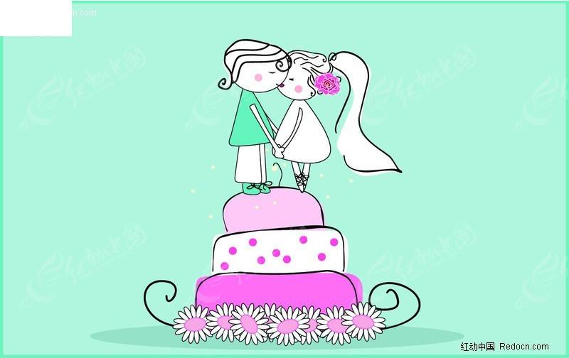 婚礼卡通蛋糕小人
