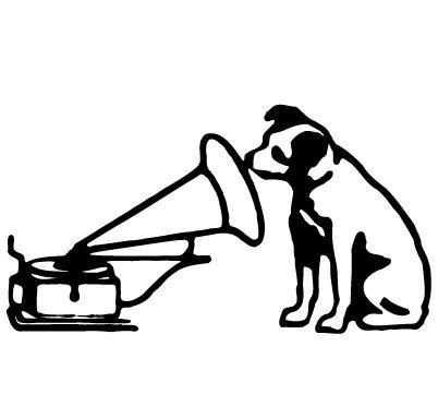 狗 喇叭 动物音乐会 矢量logo
