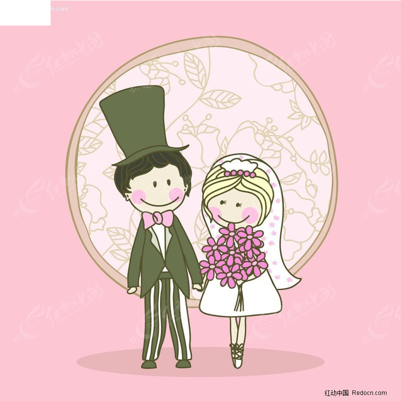 欧式婚礼卡通图片