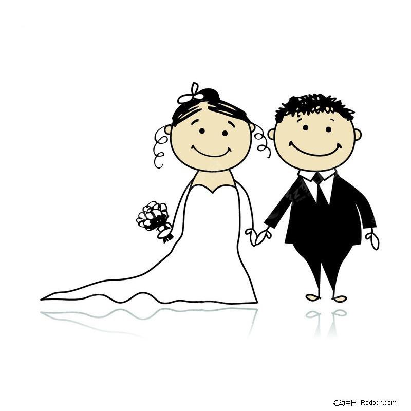 绘画婚礼简笔画