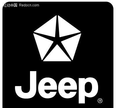 jeep图案英文字母LOGO设计高清图片
