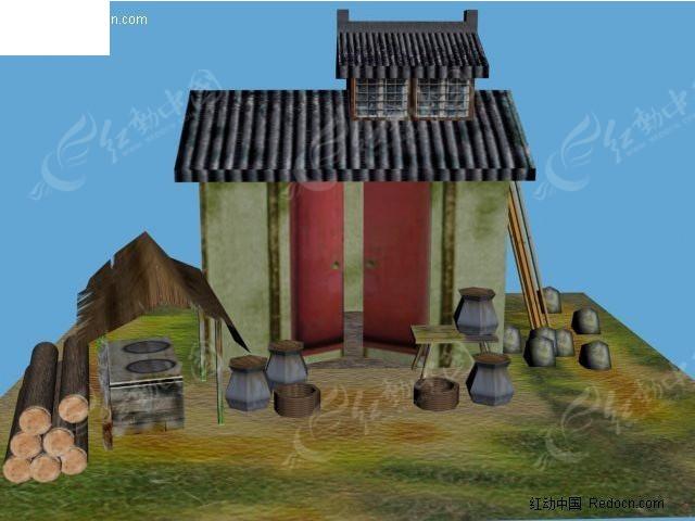 3d房子模型 房子场景